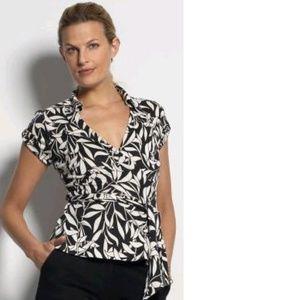 Diane Von Furstenberg DVF Jilda Silk Wrap Top